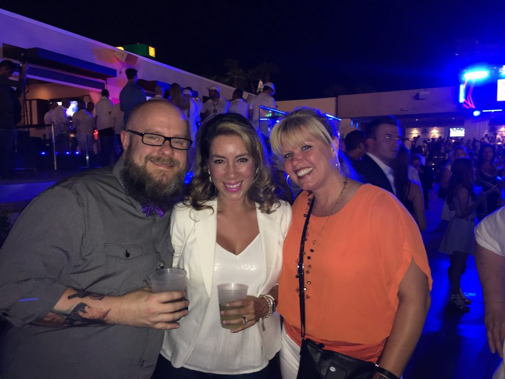 Greg Gifford, Barbie Brand, and CJ DePasquale at White Party