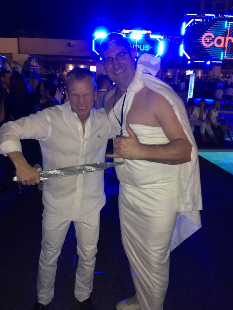 Tom Lapointe was a little confused about dressing for the White Party, until the MGM hotel maids caught up with him