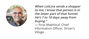 Quote from Firas Makhlouf, Driver's Village