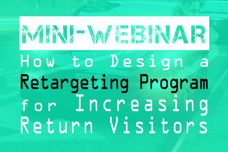 how to design a retargeting program