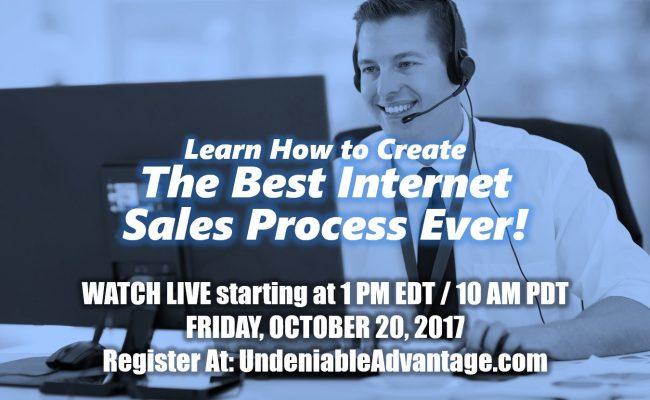 best internet sales process