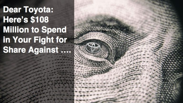 Dear Toyota: Here's $108 Million