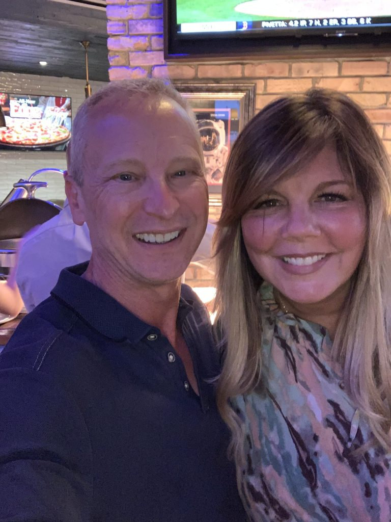 With Christy Roman at the Monday cocktail hour